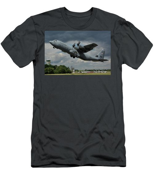 Usaf Lockheed-martin C-130j-30 Hercules  Men's T-Shirt (Slim Fit) by Tim Beach