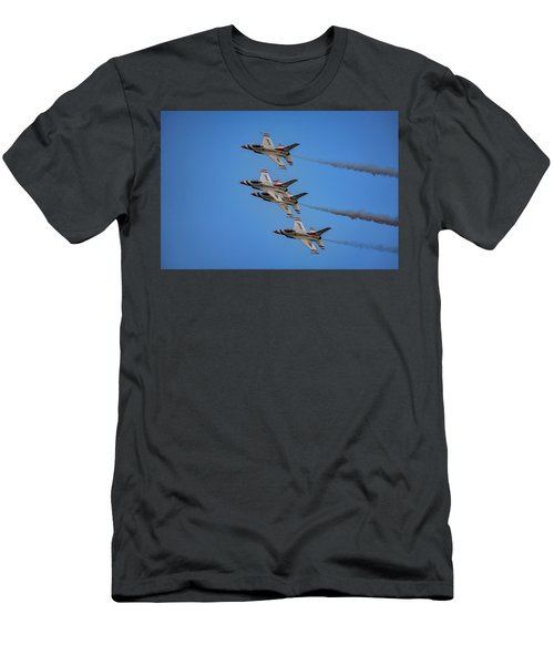 Men's T-Shirt (Athletic Fit) featuring the photograph Usaf Thunderbirds by Rick Berk