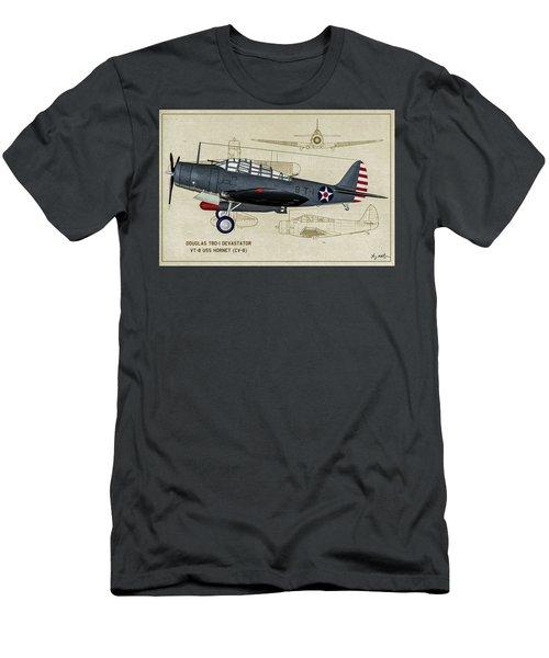 Usn Devastator - Profile Art Men's T-Shirt (Athletic Fit)