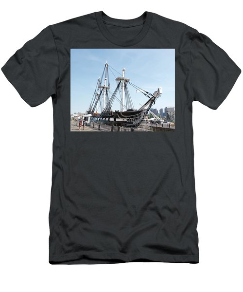 Uss Constitution Dry Dock Men's T-Shirt (Slim Fit) by Caroline Stella