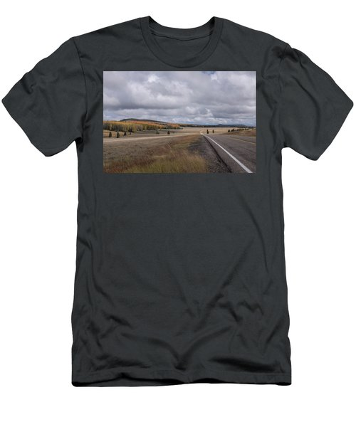 Men's T-Shirt (Athletic Fit) featuring the photograph Utah Highway With Aspens by Frank DiMarco