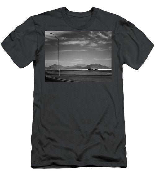 Utah Salt Flats Men's T-Shirt (Slim Fit) by Art Shimamura