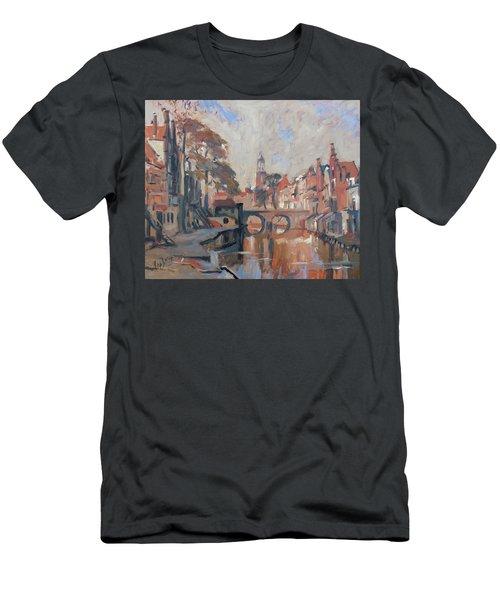 Utrecht Autumn Canal Men's T-Shirt (Athletic Fit)