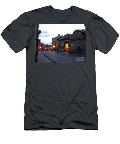 Uzupis Street. Old Vilnius. Lithuania. Men's T-Shirt (Slim Fit) by Ausra Huntington nee Paulauskaite