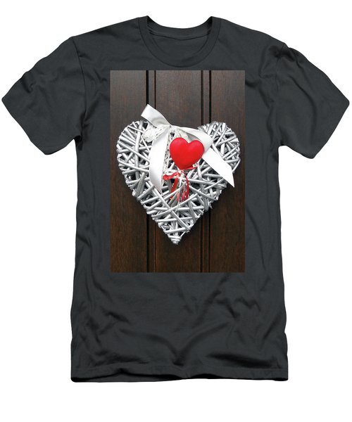 Men's T-Shirt (Slim Fit) featuring the photograph Valentine Heart by Juergen Weiss