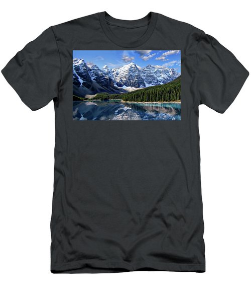 Men's T-Shirt (Athletic Fit) featuring the photograph Valley Of The Ten Peaks by Anthony Dezenzio