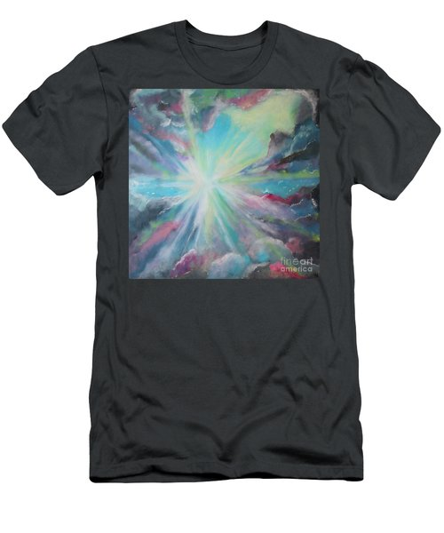 Men's T-Shirt (Slim Fit) featuring the painting Inspire by Stacey Zimmerman