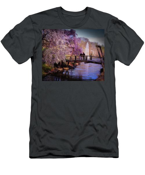 Van Gogh Bridge - Reston, Virginia Men's T-Shirt (Athletic Fit)