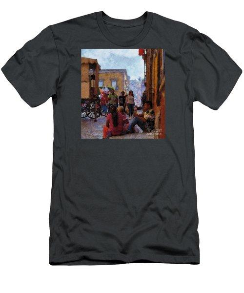Van Gogh Visits Mexico Men's T-Shirt (Slim Fit) by John  Kolenberg