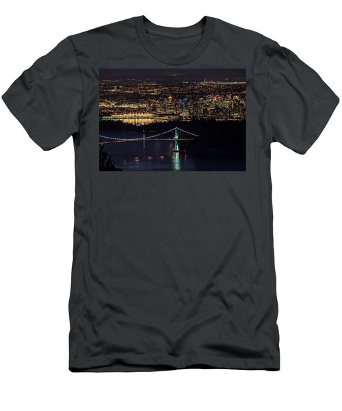 Vancouver Night From Cypress Mountain Men's T-Shirt (Athletic Fit)