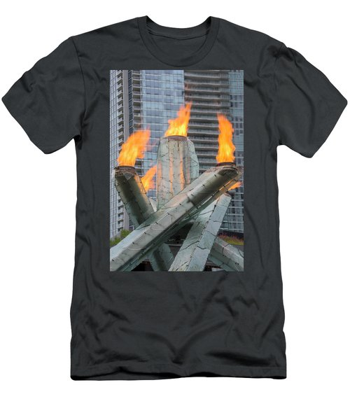 Vancouver Olympic Cauldron Men's T-Shirt (Slim Fit) by Ross G Strachan