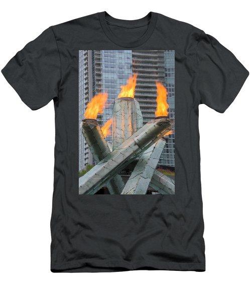 Vancouver Olympic Cauldron Men's T-Shirt (Athletic Fit)