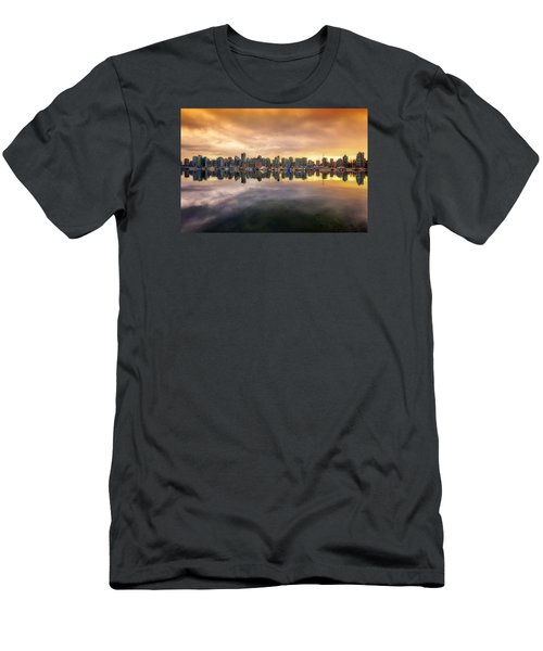 Men's T-Shirt (Slim Fit) featuring the photograph Vancouver Reflections by Eti Reid