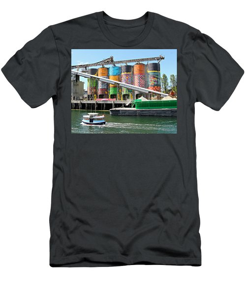 Vancouver Silo Art   Men's T-Shirt (Athletic Fit)