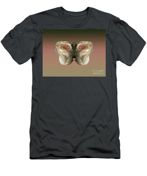 Vanilla Butterfly Rose Men's T-Shirt (Athletic Fit)
