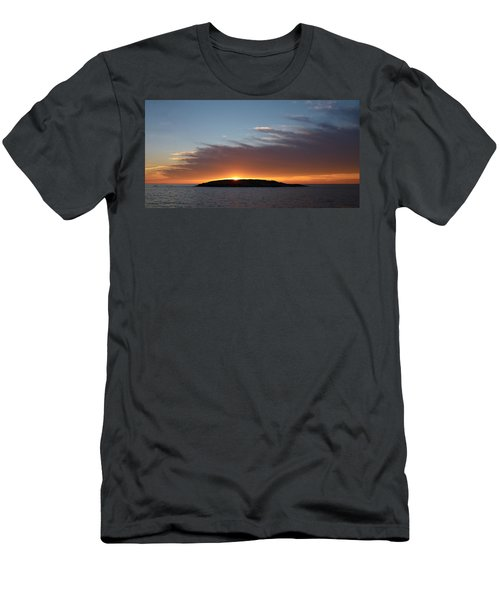 Men's T-Shirt (Slim Fit) featuring the photograph Variations Of Sunsets At Gulf Of Bothnia 1 by Jouko Lehto