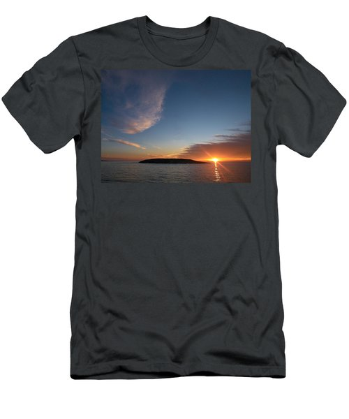 Men's T-Shirt (Slim Fit) featuring the photograph Variations Of Sunsets At Gulf Of Bothnia 2 by Jouko Lehto