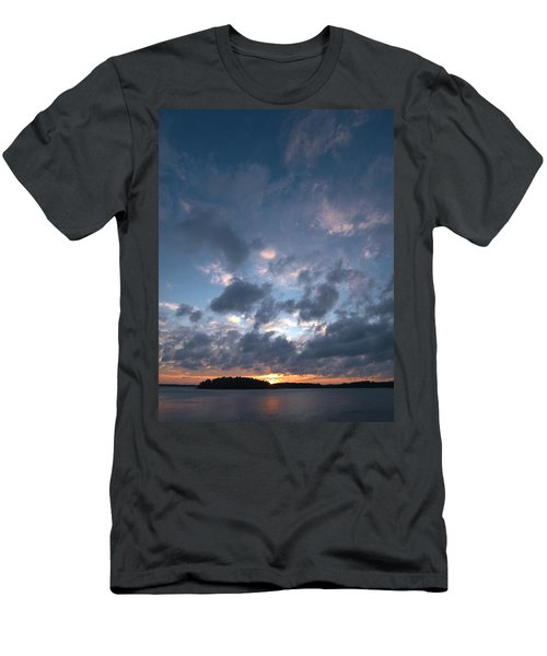 Men's T-Shirt (Slim Fit) featuring the photograph Variations Of Sunsets At Gulf Of Bothnia 5 by Jouko Lehto