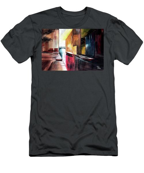Men's T-Shirt (Slim Fit) featuring the painting Venice 1 by Anil Nene