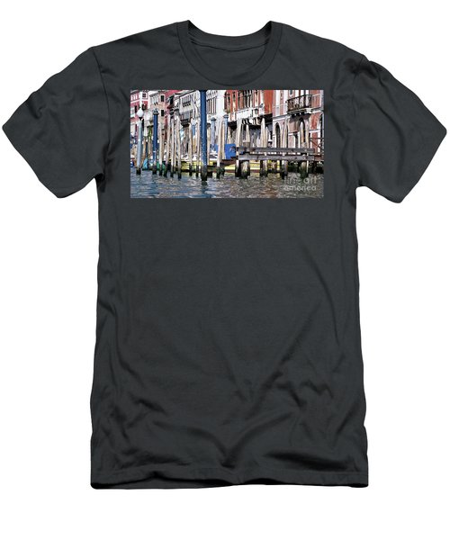 Men's T-Shirt (Slim Fit) featuring the photograph Venice Grand Canal by Allen Beatty