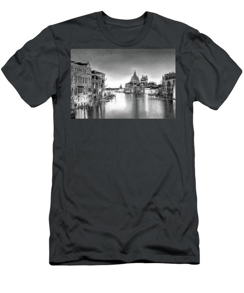 Venice Pencil Drawing Men's T-Shirt (Athletic Fit)