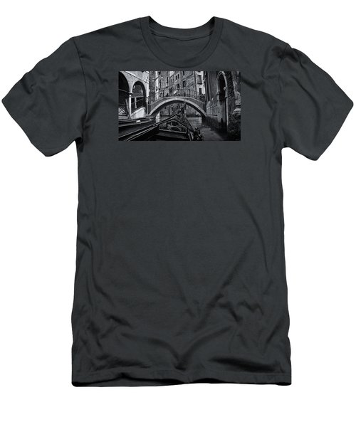 Men's T-Shirt (Slim Fit) featuring the photograph Venice Yesteryear by Andrew Soundarajan