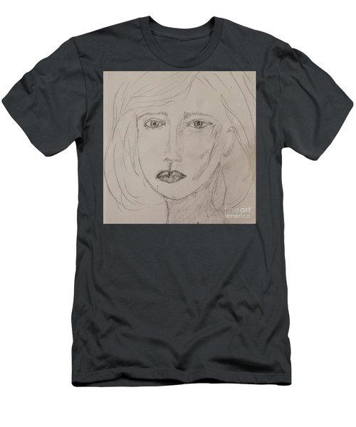 Vera In Pencil Men's T-Shirt (Athletic Fit)