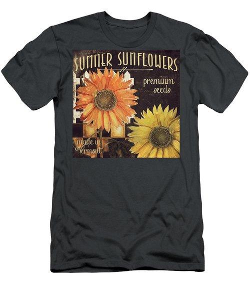 Vermont Farms Sunflowers Men's T-Shirt (Athletic Fit)