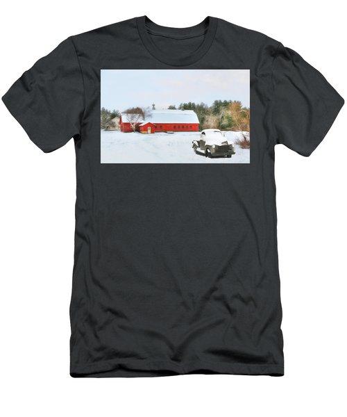 Men's T-Shirt (Slim Fit) featuring the digital art Vermont Memories by Sharon Batdorf
