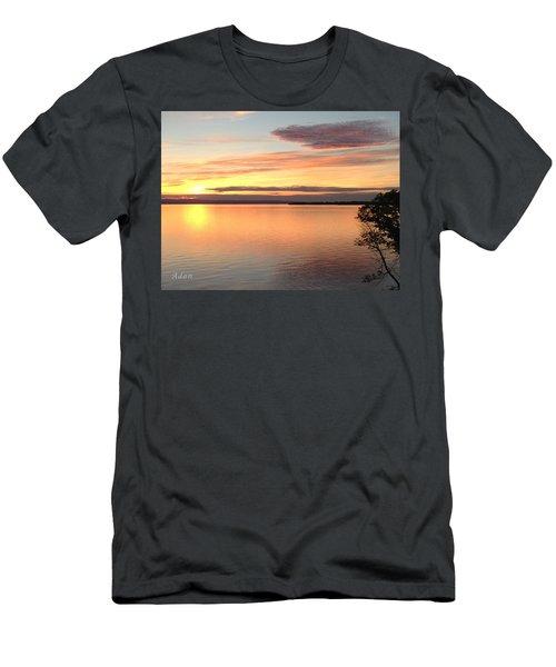 Vermont Sunset, Lake Champlain Men's T-Shirt (Slim Fit) by Felipe Adan Lerma