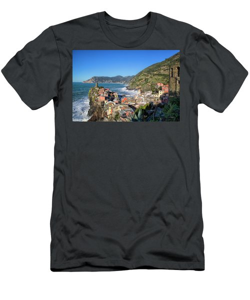 Vernazza In Cinque Terre Men's T-Shirt (Athletic Fit)