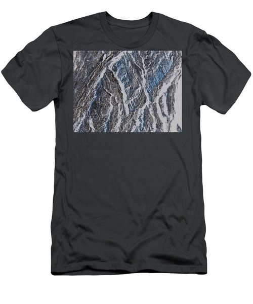Men's T-Shirt (Slim Fit) featuring the photograph Vertical Climb by Lenore Senior