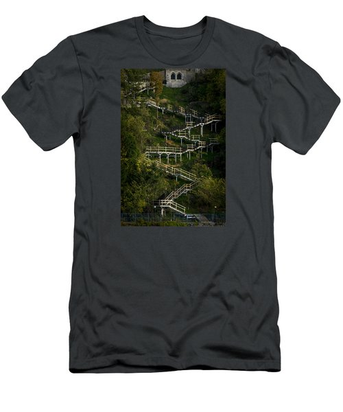 Vertical Stairs Men's T-Shirt (Slim Fit) by Celso Bressan