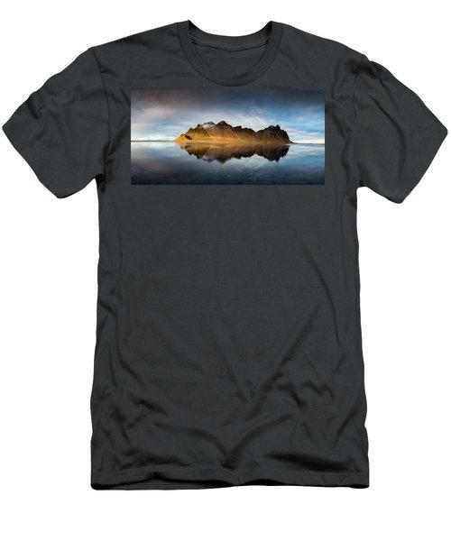 Men's T-Shirt (Slim Fit) featuring the photograph Vestrahorn Panao by Allen Biedrzycki
