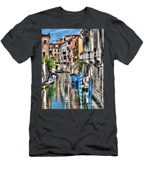 Men's T-Shirt (Slim Fit) featuring the photograph Viale Di Venezia by Tom Cameron