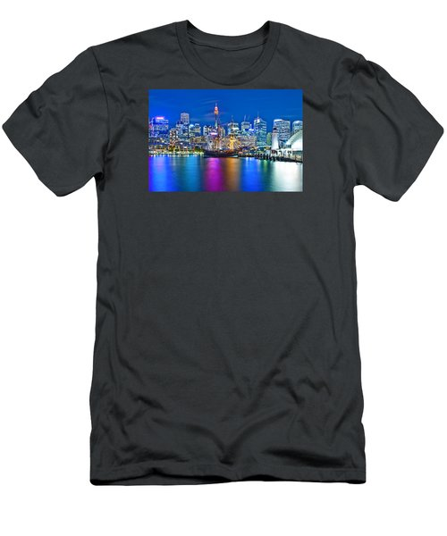 Vibrant Darling Harbour Men's T-Shirt (Slim Fit) by Az Jackson