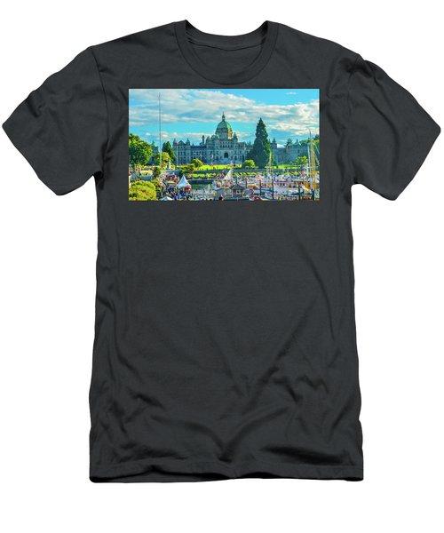 Victoria Bc Parliament Harbor Men's T-Shirt (Athletic Fit)