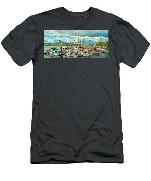 Victoria Harbor 1 Men's T-Shirt (Athletic Fit)