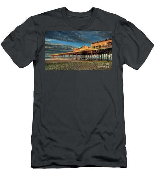 Men's T-Shirt (Slim Fit) featuring the photograph Victoria Pier 1899 by Adrian Evans