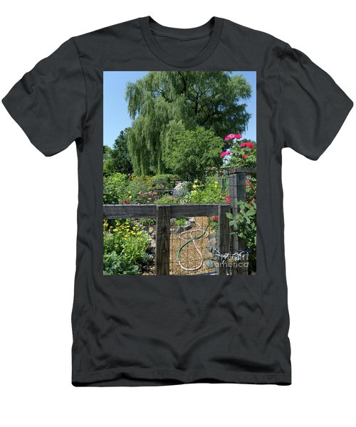 Victory Garden Lot And Willow Tree, Boston, Massachusetts  -30958 Men's T-Shirt (Athletic Fit)