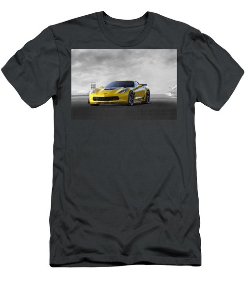 Men's T-Shirt (Slim Fit) featuring the digital art Victory Yellow  by Peter Chilelli