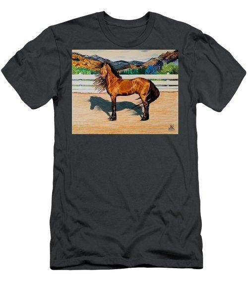 Viento Men's T-Shirt (Slim Fit) by Cheryl Poland
