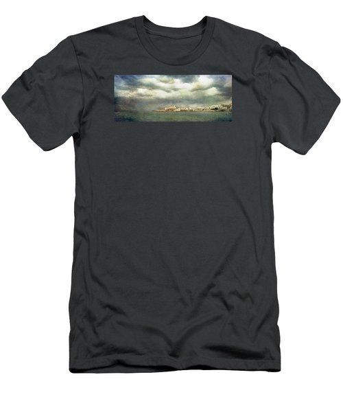 Vieste  - Gargano Men's T-Shirt (Slim Fit) by Vittorio Chiampan