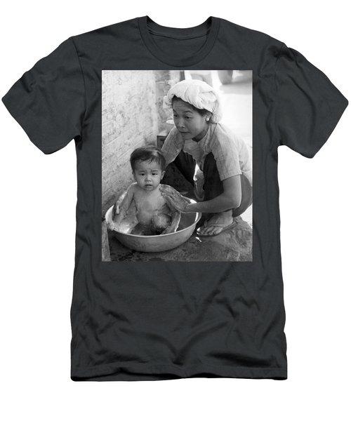 Vietnamese Orphan Bathing Men's T-Shirt (Athletic Fit)