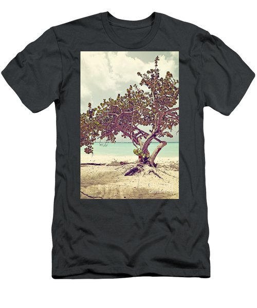 View At The Ocean With Boats In The Water Men's T-Shirt (Athletic Fit)