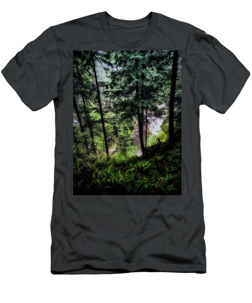 Men's T-Shirt (Slim Fit) featuring the photograph View Downhill by Joseph Hollingsworth