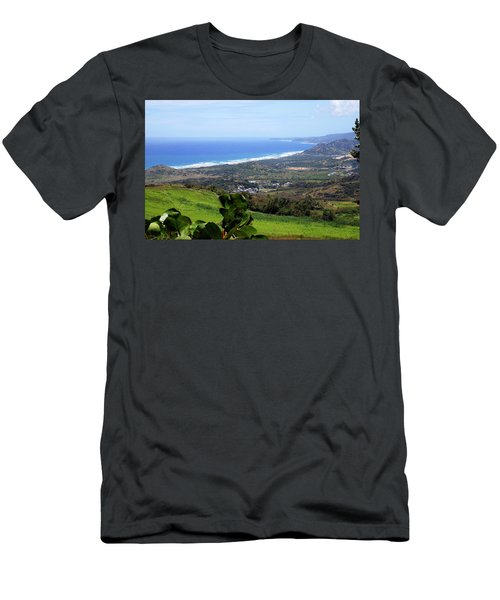 Men's T-Shirt (Slim Fit) featuring the photograph View From Cherry Hill, Barbados by Kurt Van Wagner