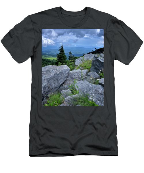 View From Grandfather Mtn Nc Men's T-Shirt (Slim Fit) by Steve Hurt