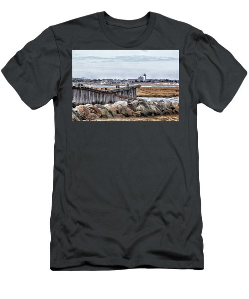 View From Mill Creek - Cold Men's T-Shirt (Slim Fit) by Constantine Gregory