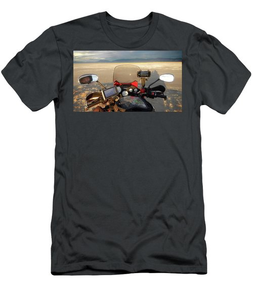 View From My Handlebars Crossing The Great Salt Lake Men's T-Shirt (Athletic Fit)